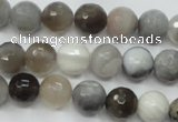 CAG1802 15.5 inches 8mm faceted round grey botswana agate beads
