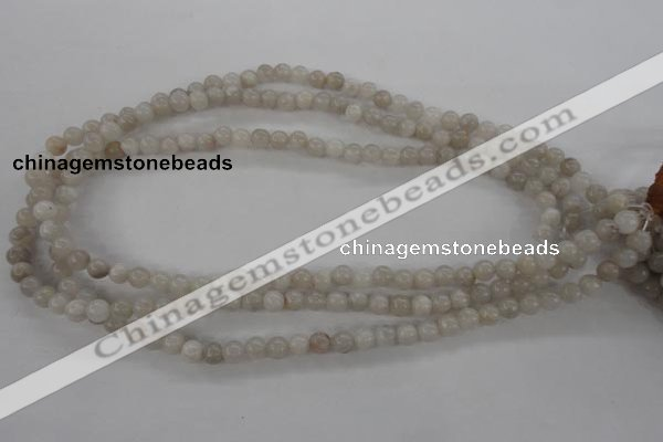 CAG1895 15.5 inches 6mm round grey agate beads wholesale