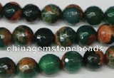 CAG2223 15.5 inches 10mm faceted round fire crackle agate beads