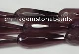 CAG2305 15.5 inches 10*30mm faceted teardrop agate gemstone beads