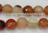 CAG2384 15.5 inches 12mm faceted round red agate beads wholesale