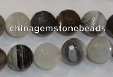 CAG2424 15.5 inches 12mm faceted round Chinese botswana agate beads