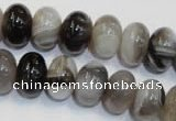 CAG2432 15.5 inches 10*14mm rondelle Chinese botswana agate beads