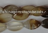 CAG3140 15.5 inches 12*20mm marquise brown line agate beads