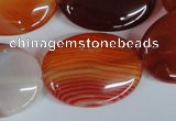 CAG3197 15.5 inches 22*30mm oval red line agate beads