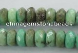 CAG3913 15.5 inches 5*10mm faceted rondelle green grass agate beads