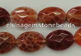 CAG4270 15.5 inches 13*18mm faceted oval natural fire agate beads