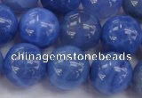 CAG4303 15.5 inches 10mm round dyed blue fire agate beads