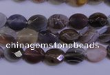 CAG4460 15.5 inches 8*10mm faceted oval botswana agate beads