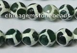 CAG4692 15.5 inches 12mm faceted round tibetan agate beads wholesale