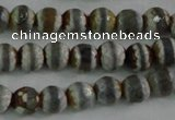 CAG4722 15 inches 6mm faceted round tibetan agate beads wholesale