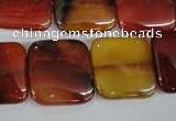 CAG5018 15.5 inches 20*20mm square agate gemstone beads wholesale