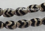 CAG5085 15.5 inches 8*12mm drum tibetan agate beads wholesale