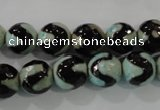CAG5161 15 inches 10mm faceted round tibetan agate beads wholesale