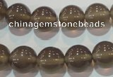 CAG5243 15.5 inches 12mm round Brazilian grey agate beads wholesale