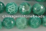 CAG5312 15.5 inches 10mm faceted round peafowl agate gemstone beads