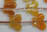 CAG5377 15.5 inches 16*20mm carved butterfly dragon veins agate beads