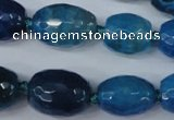 CAG5407 10*14mm – 20*30mm faceted drum dragon veins agate beads
