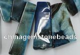 CAG5455 15.5 inches 12*20mm - 16*58mm freeform agate gemstone beads
