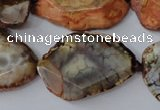 CAG5534 15.5 inches 20*25mm - 25*32mm freeform agate gemstone beads