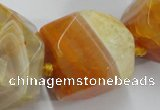 CAG5595 15 inches 12*14mm - 24*25mm faceted nuggets agate beads