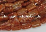 CAG569 15.5 inches 8*12mm rectangle natural fire agate beads