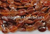CAG572 15.5 inches 8*10mm faceted oval natural fire agate beads