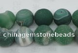 CAG5928 15 inches 12mm round matte druzy agate beads wholesale