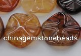 CAG6055 15.5 inches 20mm wavy coin dragon veins agate beads