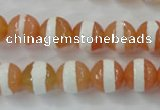 CAG6351 15 inches 10mm faceted round tibetan agate gemstone beads