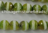 CAG6359 15 inches 10mm faceted round tibetan agate gemstone beads
