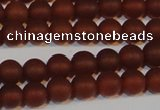 CAG6552 15.5 inches 6mm round matte red agate beads wholesale