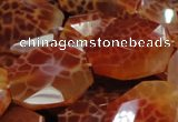 CAG682 15.5 inches 22*30mm faceted freeform natural fire agate beads