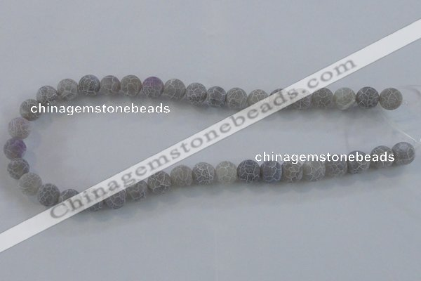 CAG7480 15.5 inches 8mm round frosted agate beads wholesale