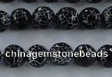 CAG7602 15.5 inches 8mm faceted round frosted agate beads wholesale