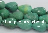 CAG7878 15.5 inches 12*16mm faceted teardrop grass agate beads