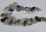 CAG8540 Top drilled 15*20mm - 25*30mm freeform dragon veins agate beads