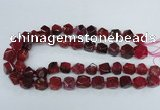CAG8552 12*14mm - 14*15mm faceted nuggets dragon veins agate beads