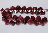 CAG8574 15.5 inches 15*16mm - 17*18mm cube dragon veins agate beads