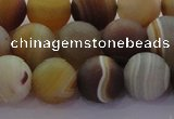CAG8727 15.5 inches 10mm round matte madagascar agate beads