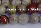 CAG9114 15.5 inches 12mm round Mexican crazy lace agate beads