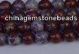 CAG9121 15.5 inches 6mm round red lightning agate beads
