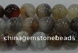 CAG9149 15.5 inches 8mm round line agate beads wholesale