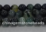 CAG9185 15.5 inches 6mm round line agate beads wholesale