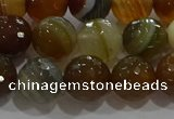 CAG9214 15.5 inches 10mm faceted round line agate gemstone beads