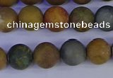 CAG9283 15.5 inches 10mm round matte ocean jasper beads wholesale