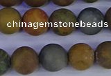 CAG9284 15.5 inches 12mm round matte ocean jasper beads wholesale