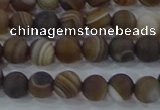 CAG9337 15.5 inches 6mm round matte line agate beads wholesale