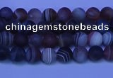 CAG9370 15.5 inches 4mm round matte botswana agate beads