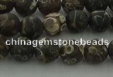 CAG9382 15.5 inches 8mm round matte turritella agate beads